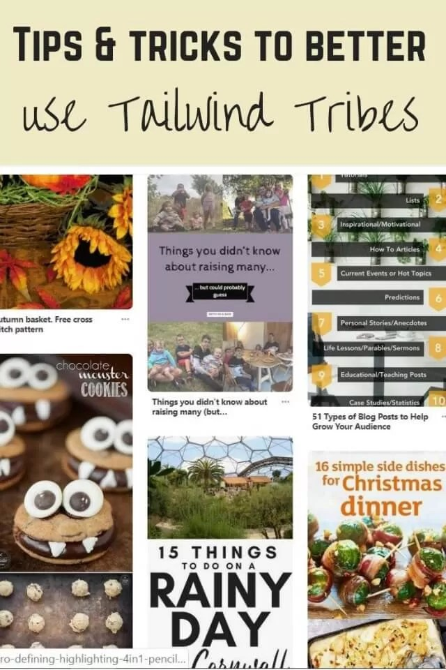 pinterest success with tribes - Bubbablue and me