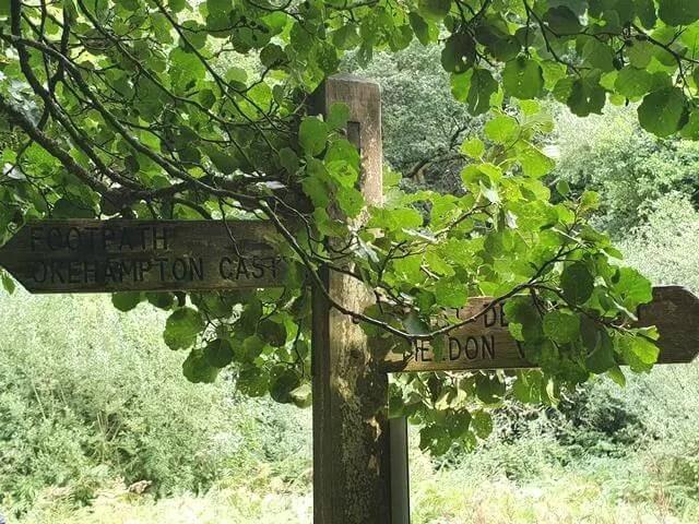 river walk sign post