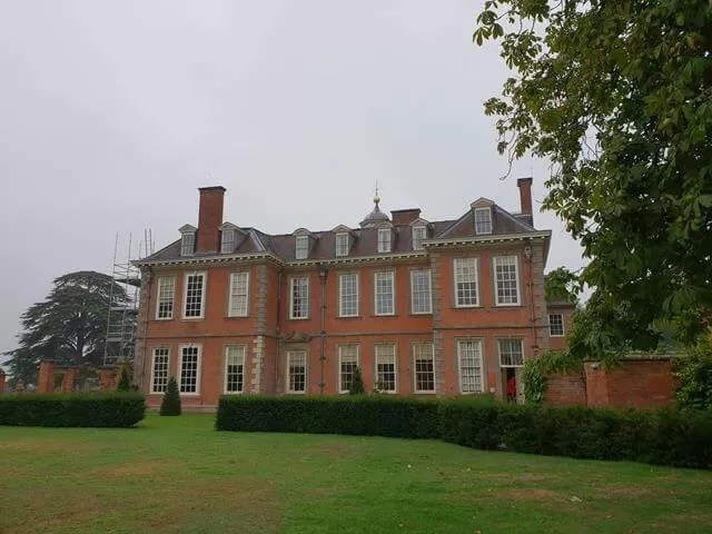 side view of hanbury hall