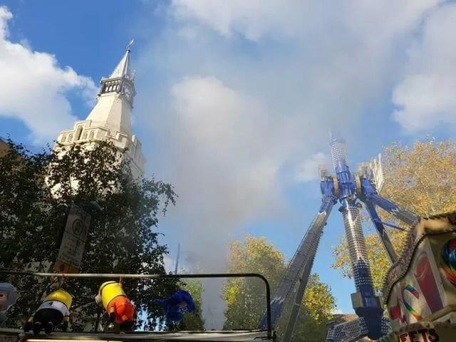 The King fair ride through the steam
