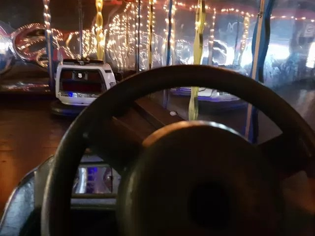 riding the dodgems