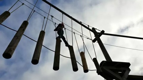 walking the high ropes