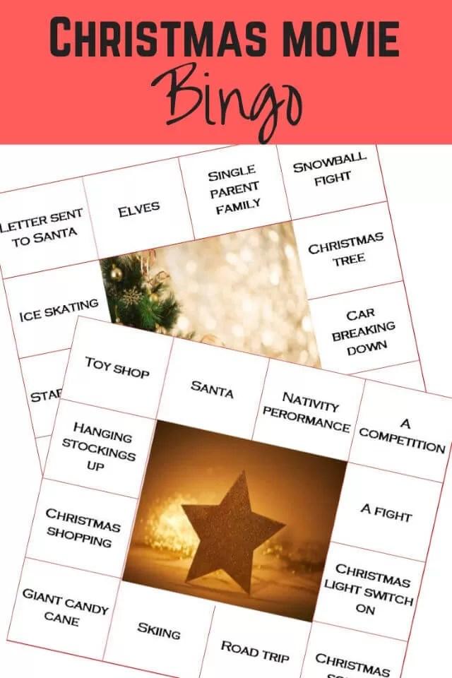 christmas films bingo