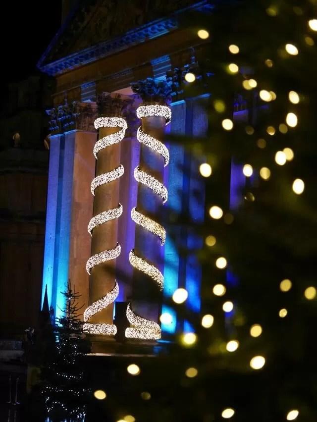 front of blenheim lit up