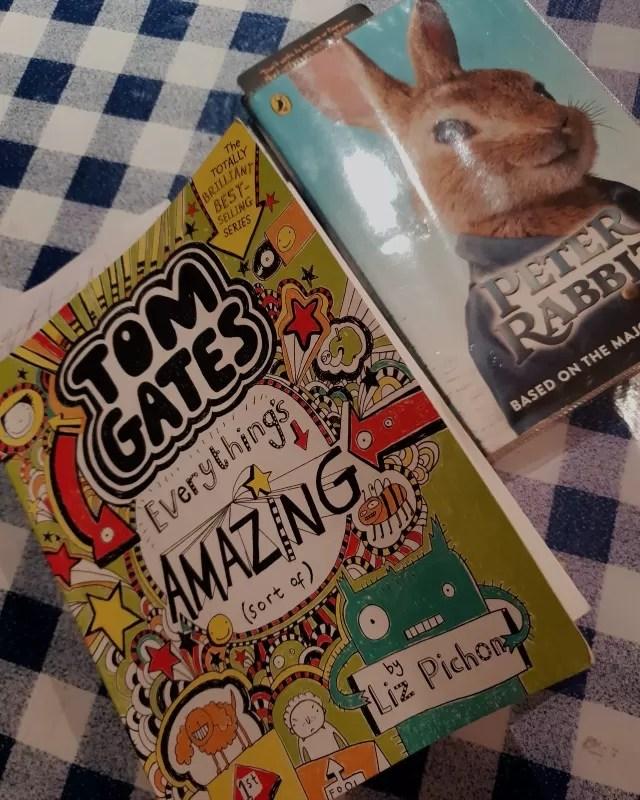 reading books tom gates and peter rabbit