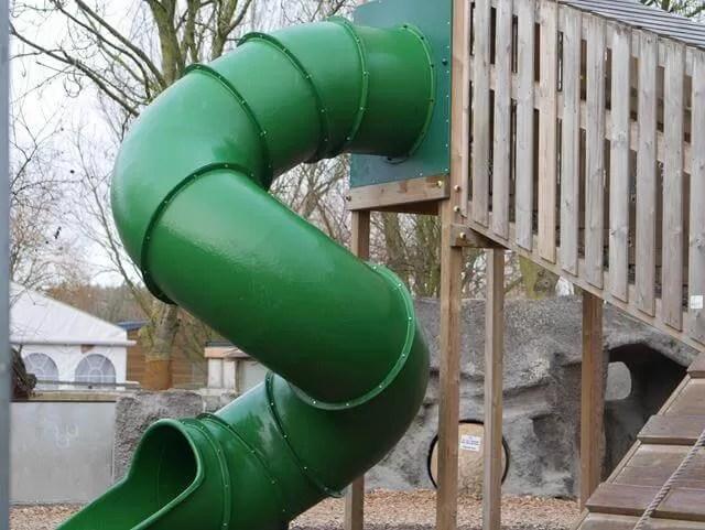 spiral green slide