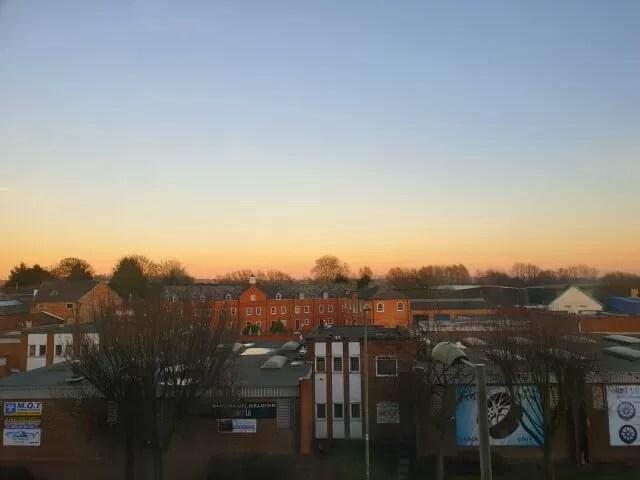 sunset view over banbury