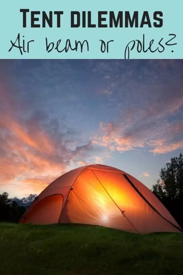 airbeam or pole tents - Bubbablueandme