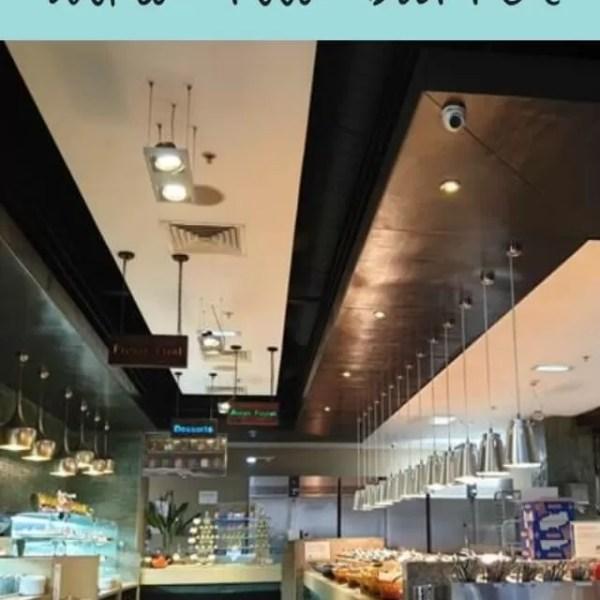 Eating at World buffet restaurant Panda Mami York