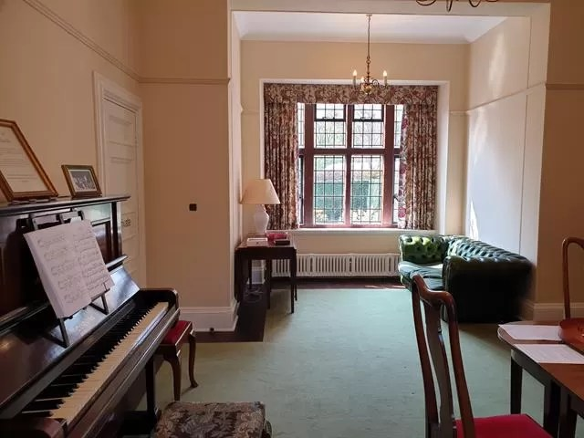 piano in goddards house recreation room