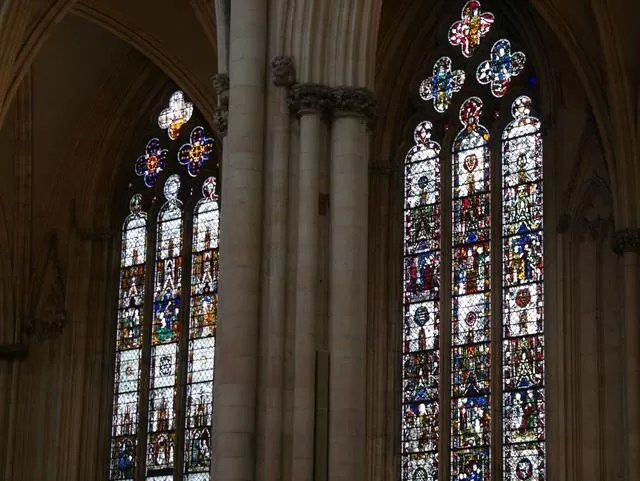 2 stained glass windows