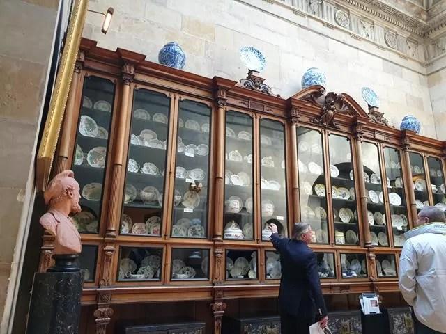 huge crockery display cupboard