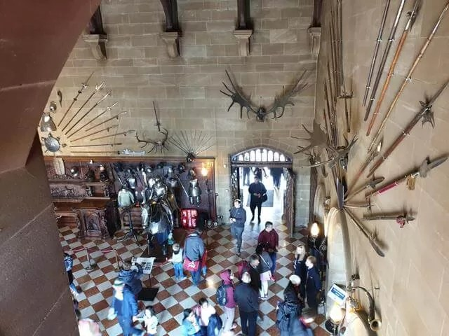 looking down in the great hall