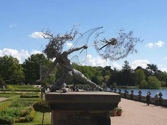 metal fairy sculpture