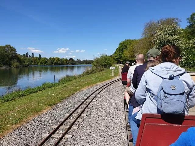 miniature train ride