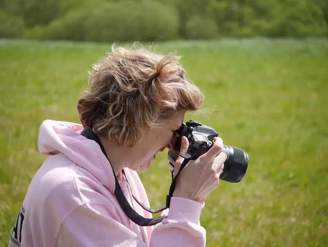 photographing a photography portrait
