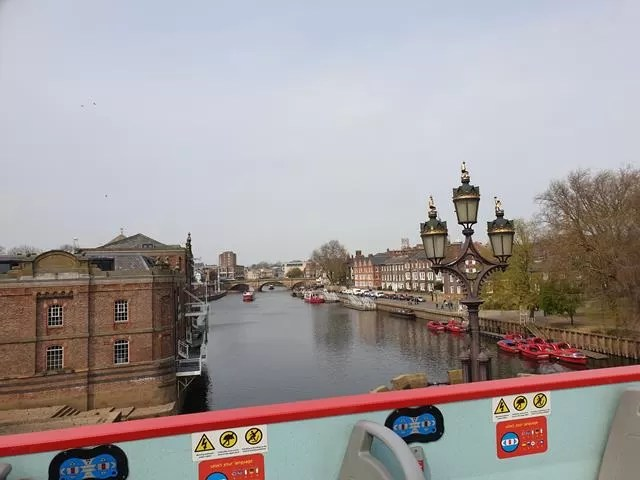 view from bus over the river ouse