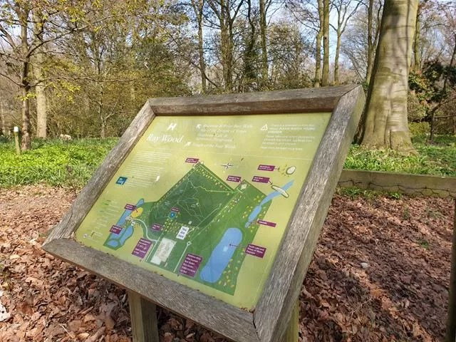 wood map sign
