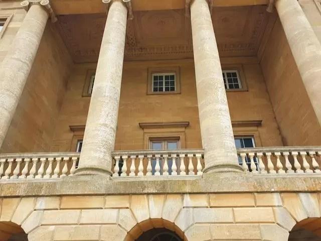 frontage pillars at basildon park