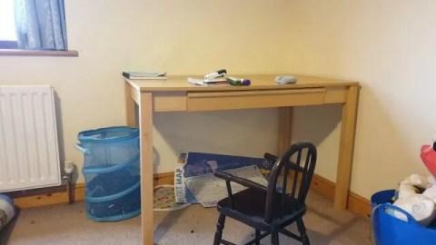 new desk in bedroom