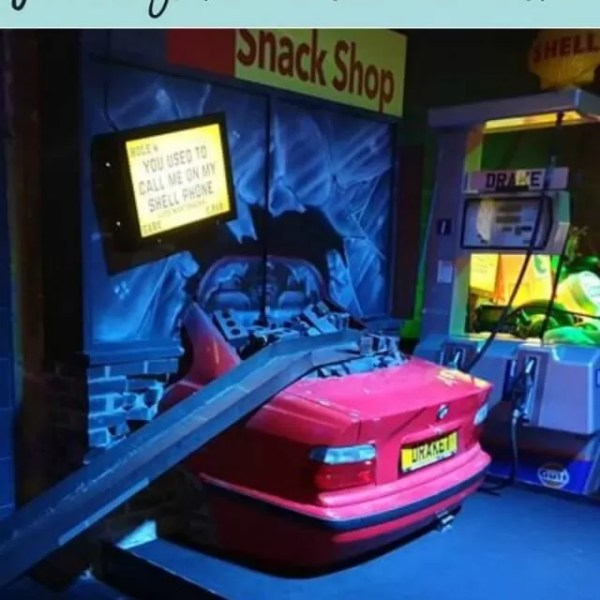 Neon fun playing Junkyard Golf Oxford