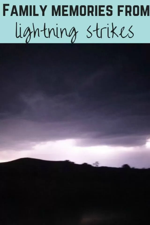 Lightning strikes and family memories - Bubbablue and me