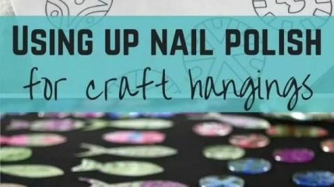 nail polish craft hangings - bubbablue and me
