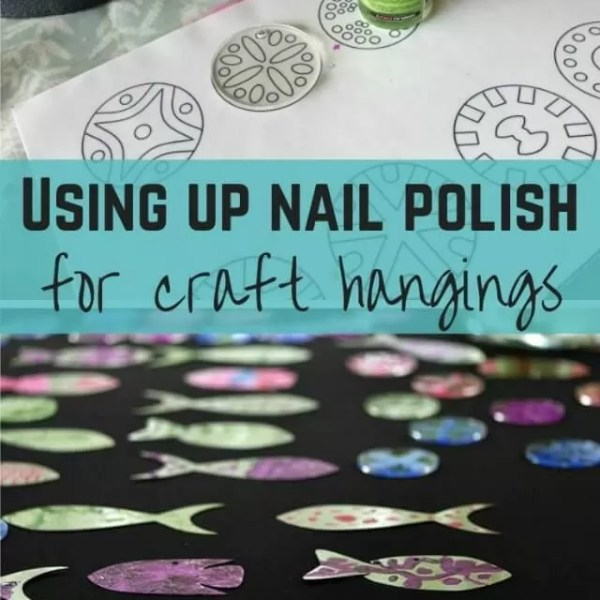 Upcycling old nail varnish for nail polish crafts