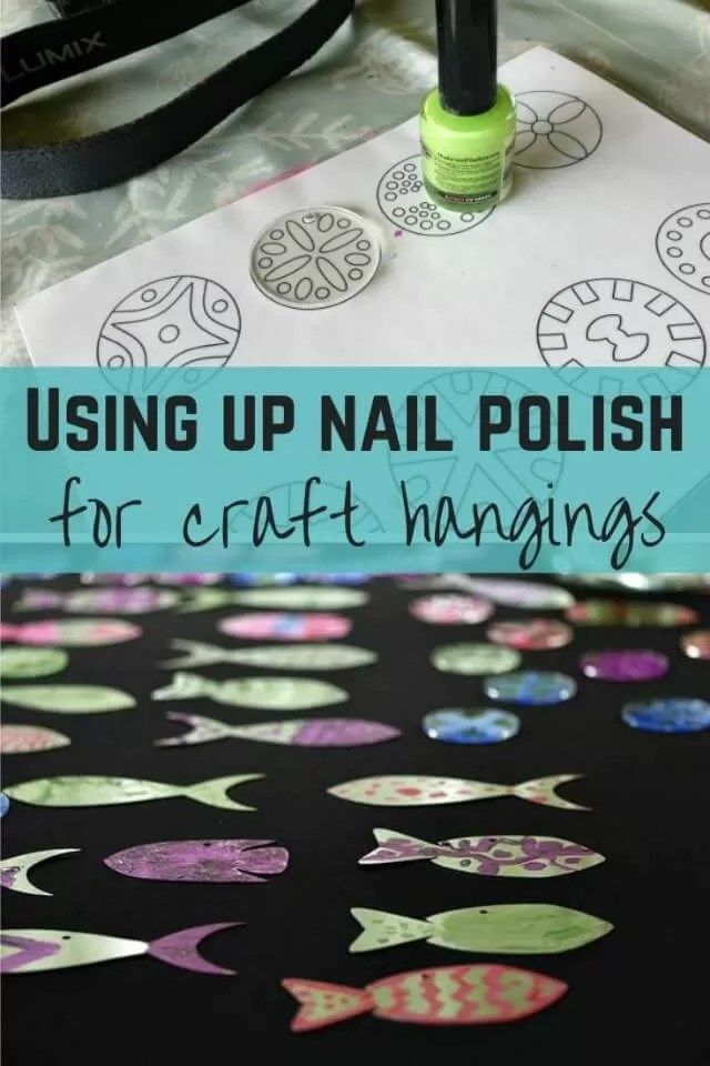 nail polish craft hangings - bubbablue and me