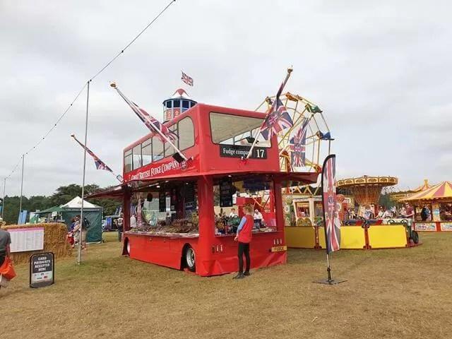 red bus selling fudge