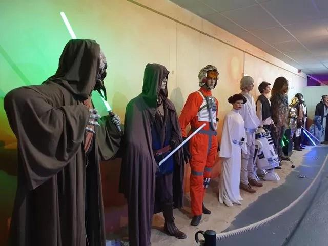 star wars costume displays