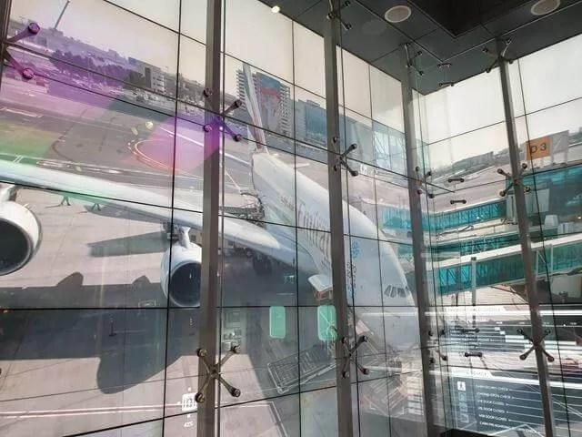 watching an A380 at dubai air port