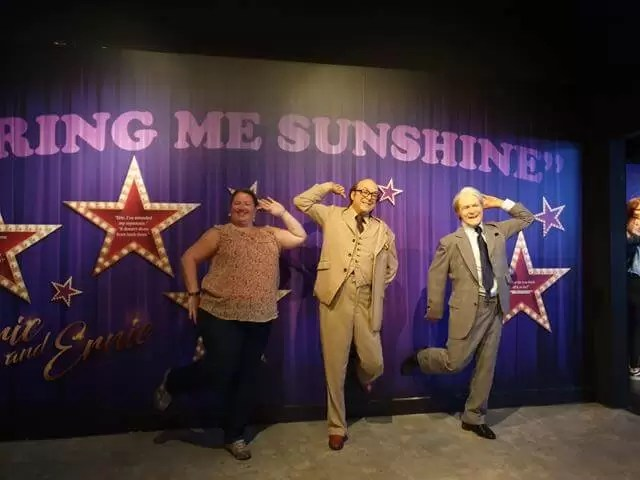 dancing with morecambe and wise waxwork