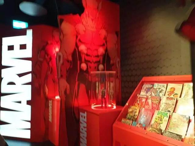 marvel comics display