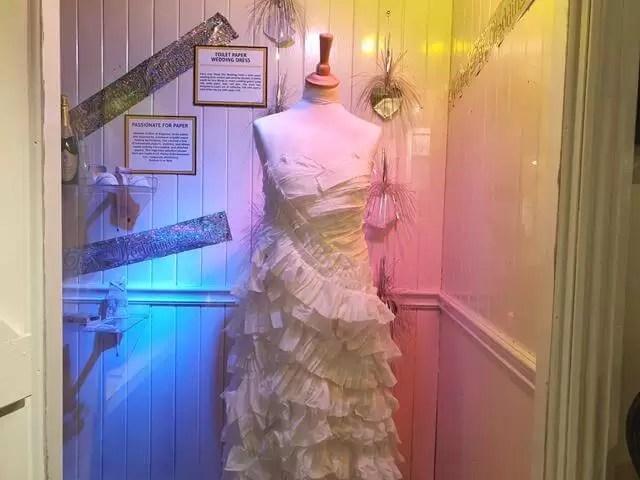 toilet paper wedding dress
