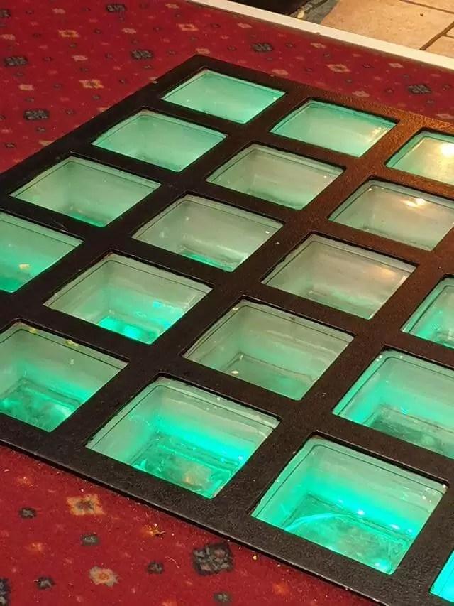 treasure glass floor at Buccaneer family bar and restaurant