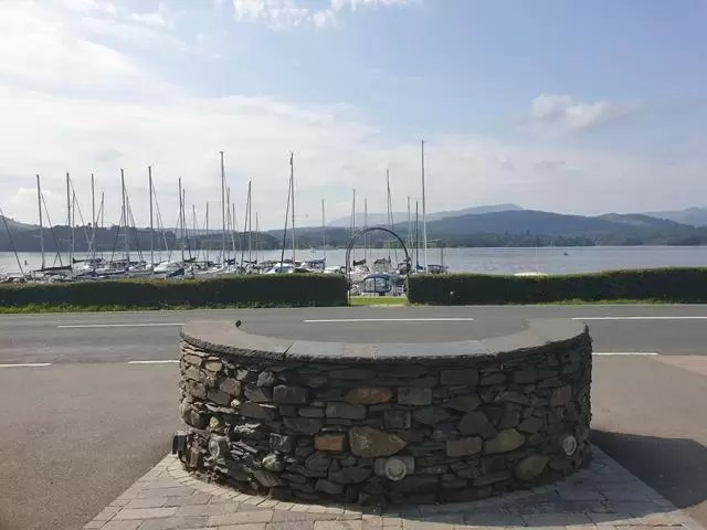 view from low wood bay hotel