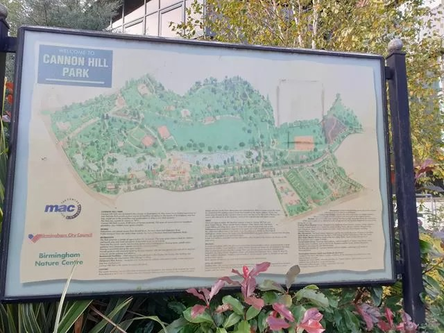 cannon hill park map