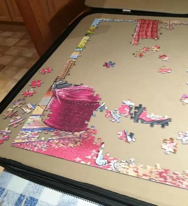 catching a break puzzle in progress