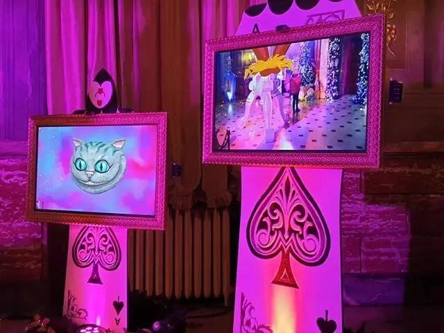 interactive alice in wonderland displays