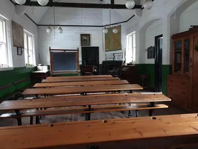 Victorian classroom desks