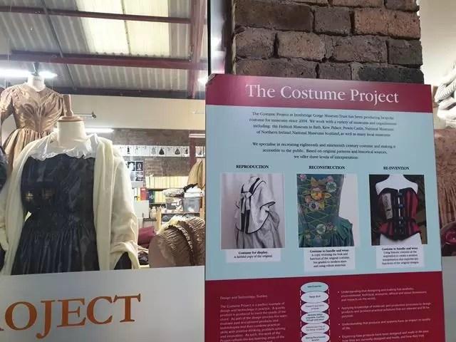 vintage costume project displays