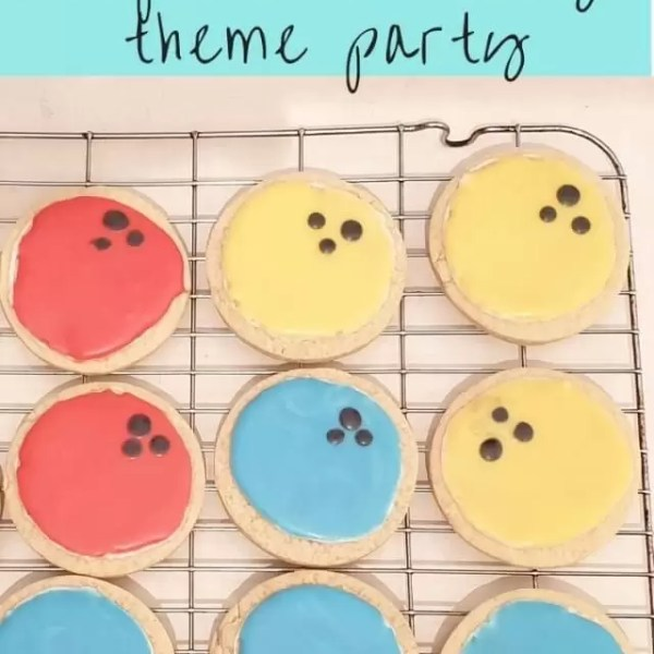 Bowling theme birthday with iced biscuits recipe