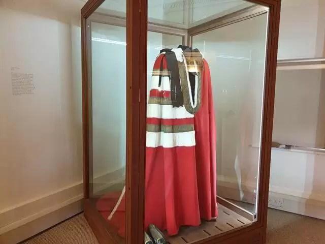 ceremonial robe at hughenden