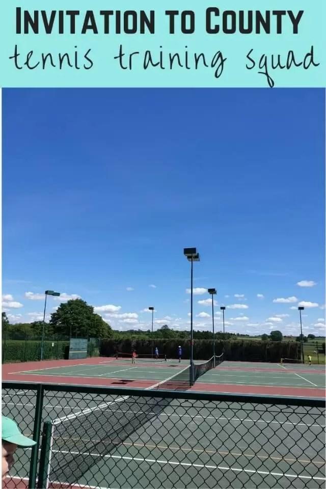 invitation to county tennis training squad
