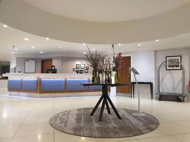 lobby at cambridge belfry