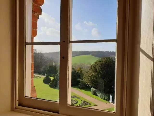 view out the window at hughenden