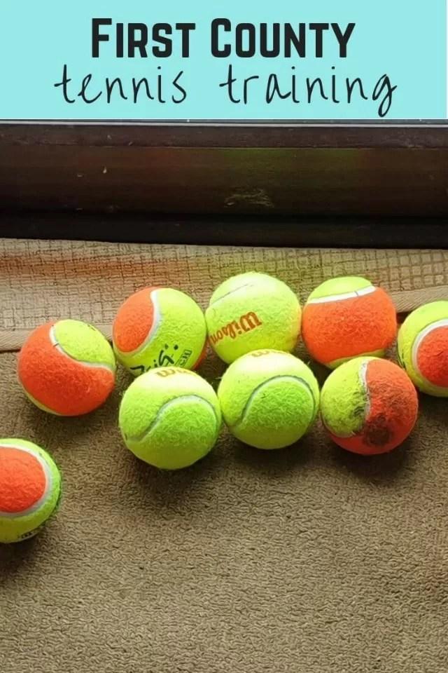 county tennis training