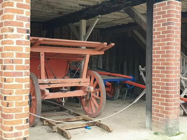 old carriage in a barn