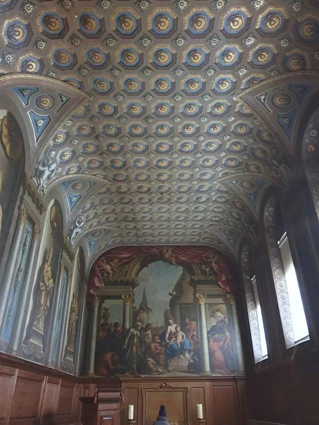 wimpole estate chapel ceiling